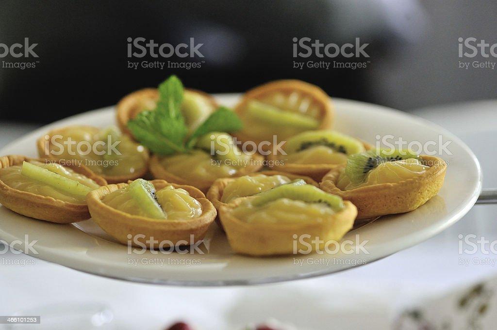kiwi cakes stock photo
