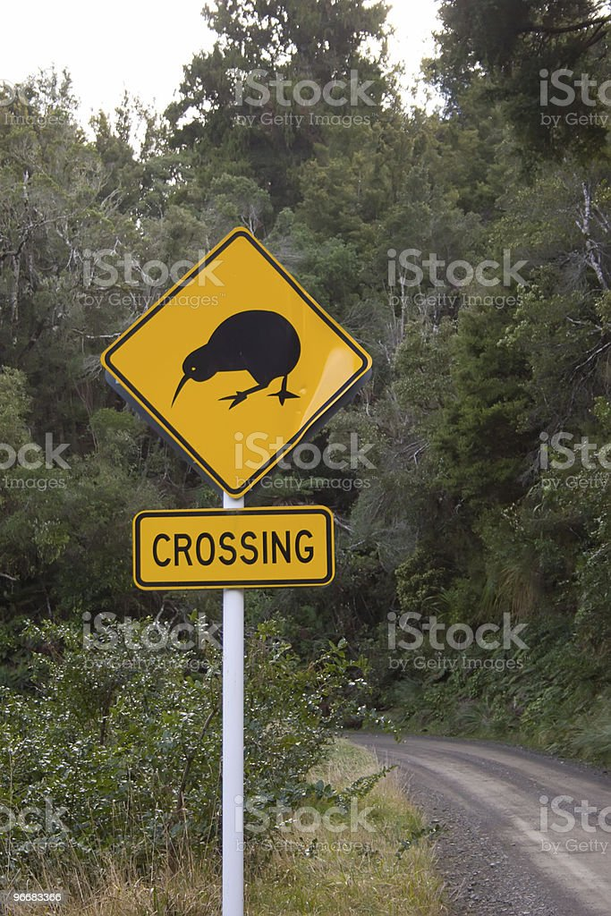 Kiwi Crossing royalty-free stock photo