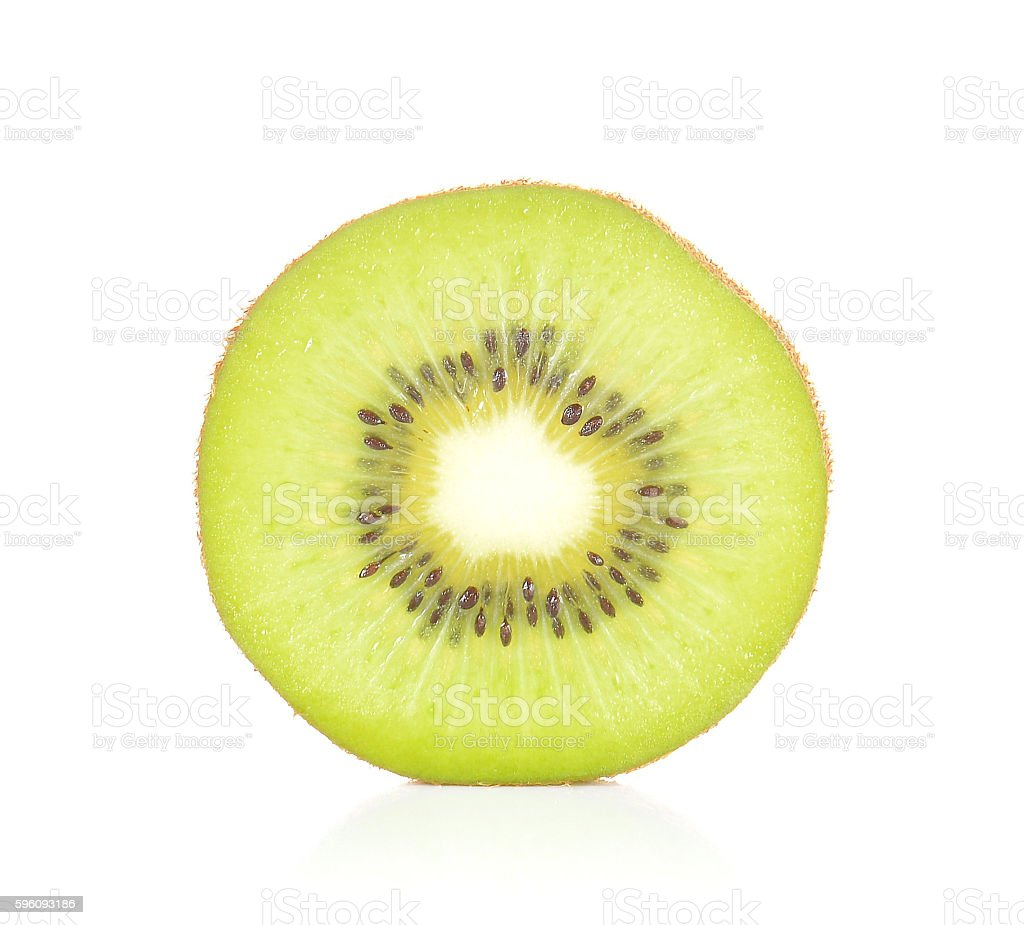Kiwi cut pieces on white background. Lizenzfreies stock-foto