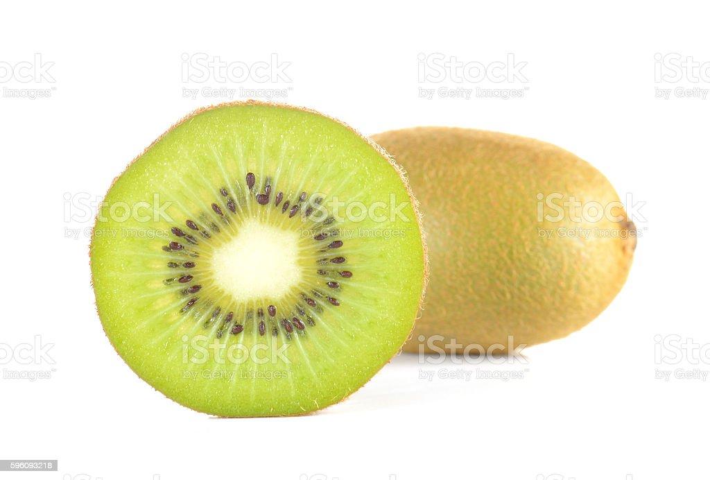 Kiwi cut pieces on white background. royalty-free stock photo