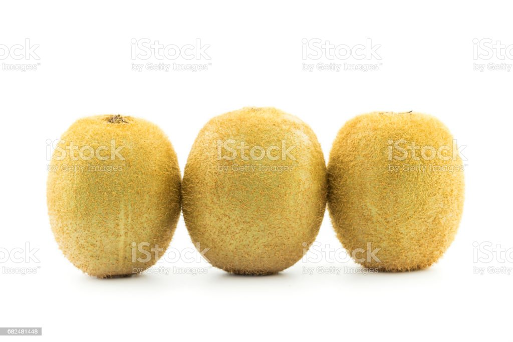 Kiwi fruit isolated on white background cutout royalty-free stock photo