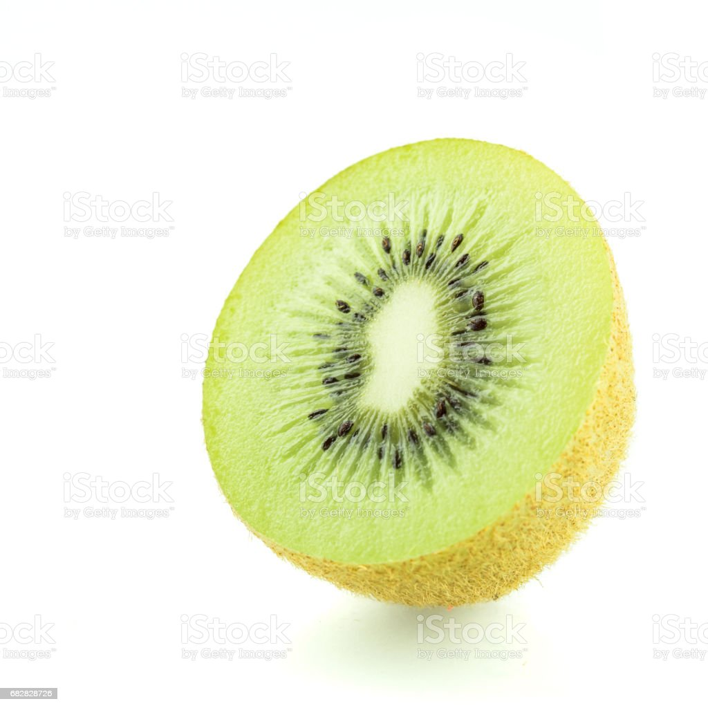 Kiwi fruit isolated on white background cutout Lizenzfreies stock-foto