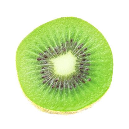 kiwi fruit grapes lemon on a white background