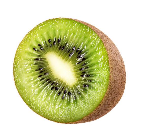 kiwi isolato su bianco - frutto kiwi foto e immagini stock