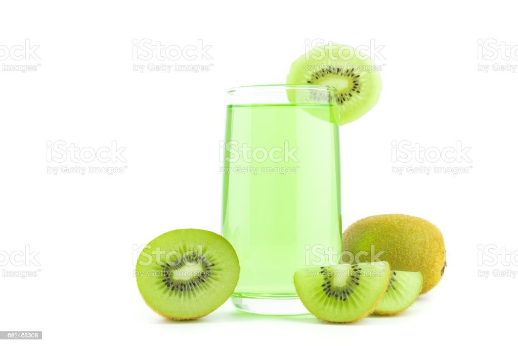 Kiwi juice isolated on white background royalty-free stock photo