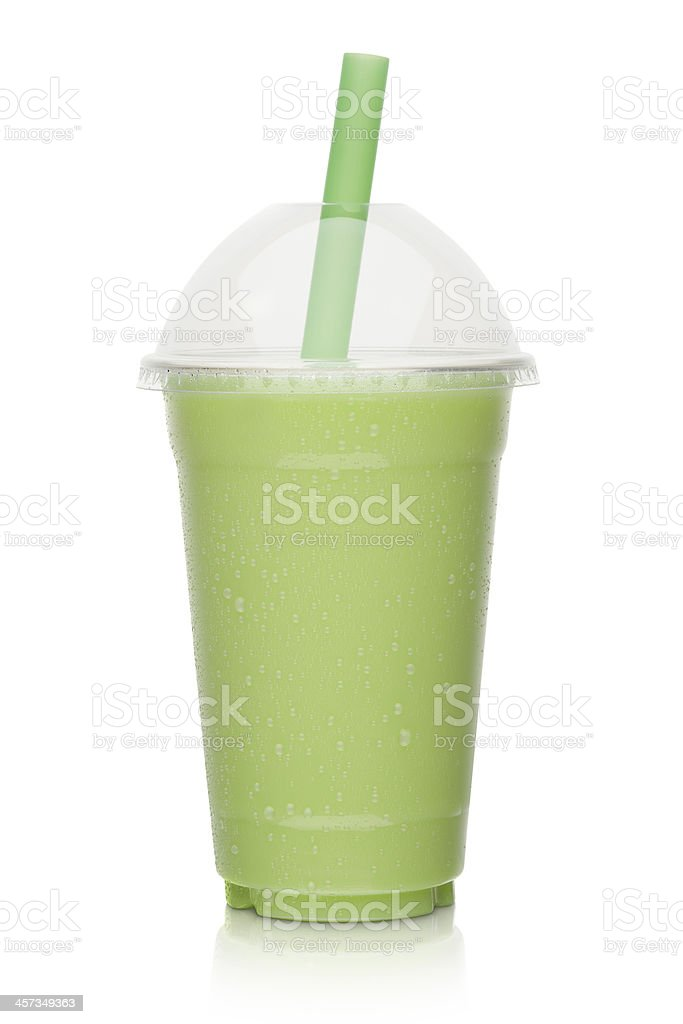 Kiwi milkshake stock photo