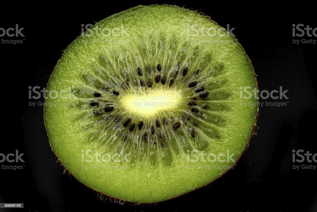Kiwi on black royalty-free stock photo