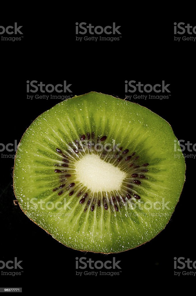 kiwi su nero foto stock royalty-free
