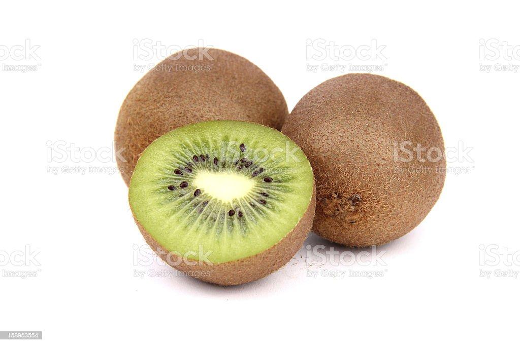 Kiwi on white royalty-free stock photo