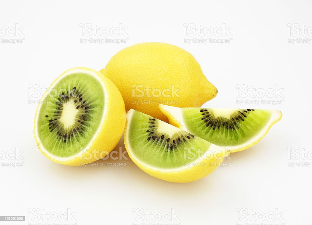 Kiwi or Lemon stock photo
