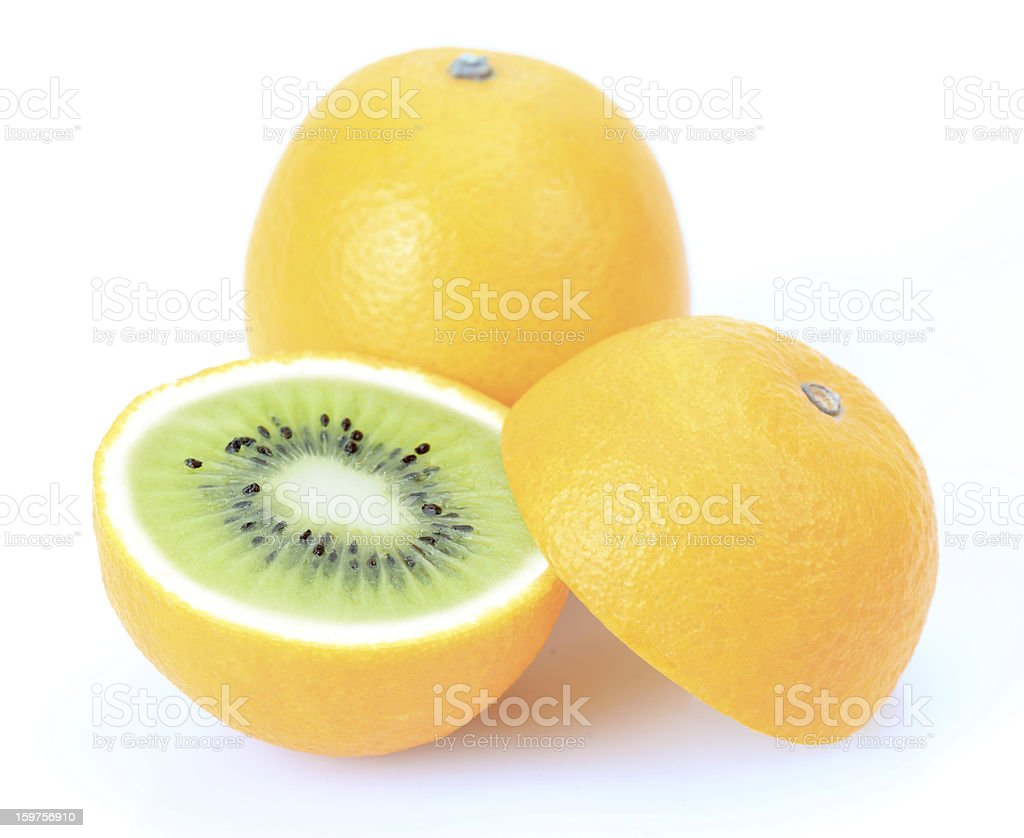 Kiwi or orange royalty-free stock photo