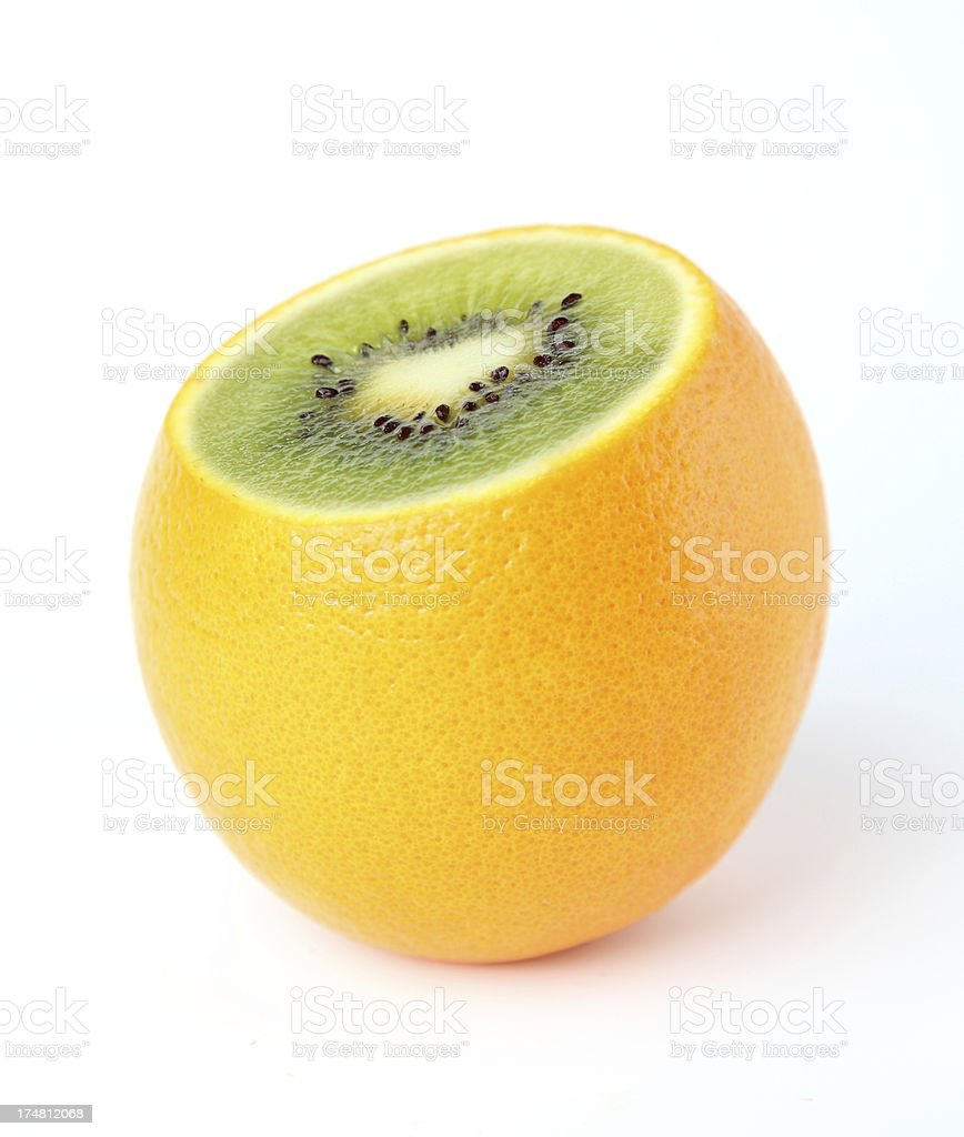 kiwi or orange royalty-free stock photo