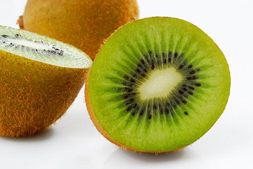 fruit kiwi on white