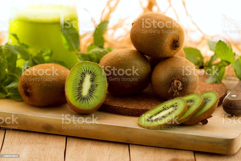 Kiwi. At creation of this photo,I was inspired with beauty of the nature. Fruit Stock Photo