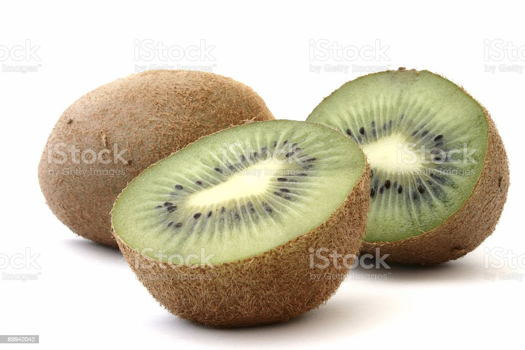 kiwi profile on white #2 royalty-free stock photo