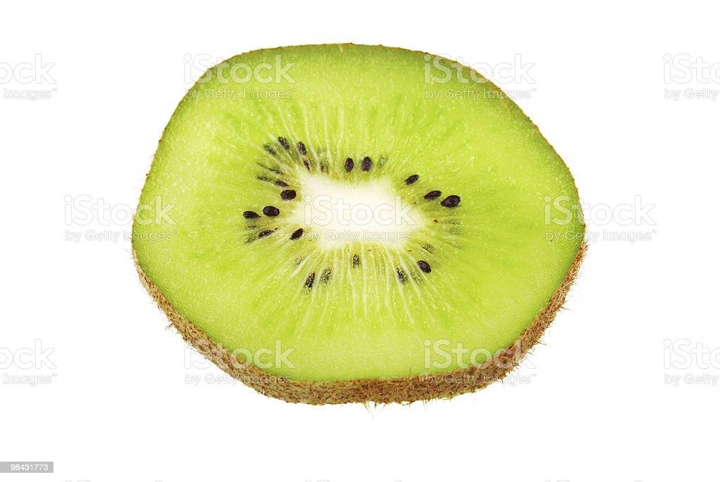 Kiwi slice isolated on white royalty-free stock photo