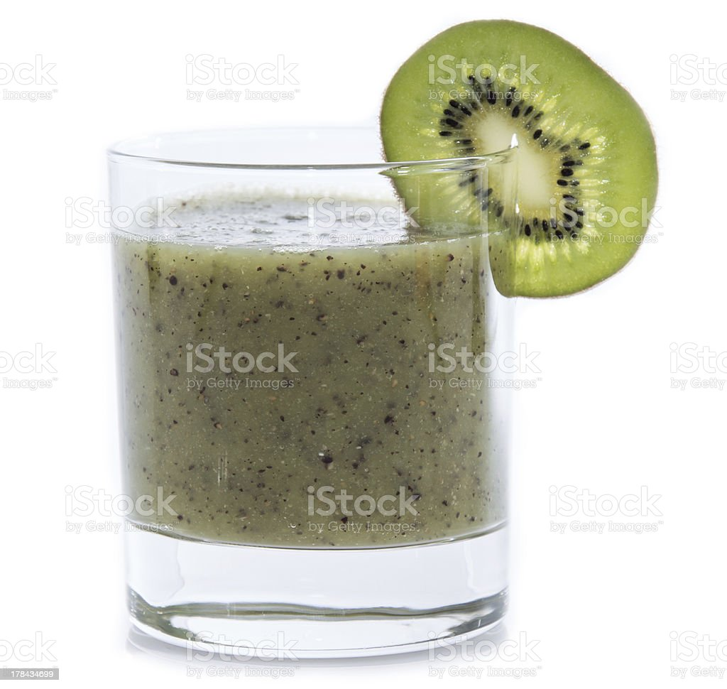 Kiwi Smoothie isolated on white royalty-free stock photo