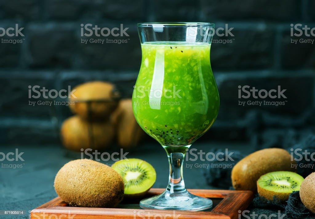 kiwi smoothie stock photo
