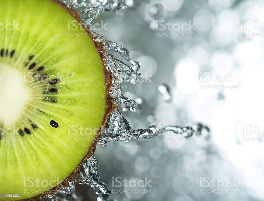Kiwi splash stock photo