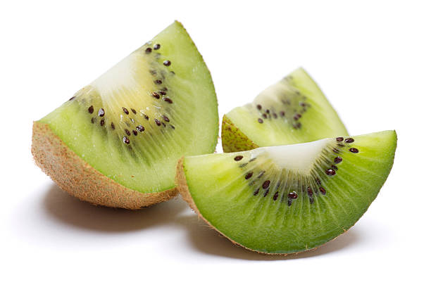 Kiwi Wedge Isolated on White stock photo