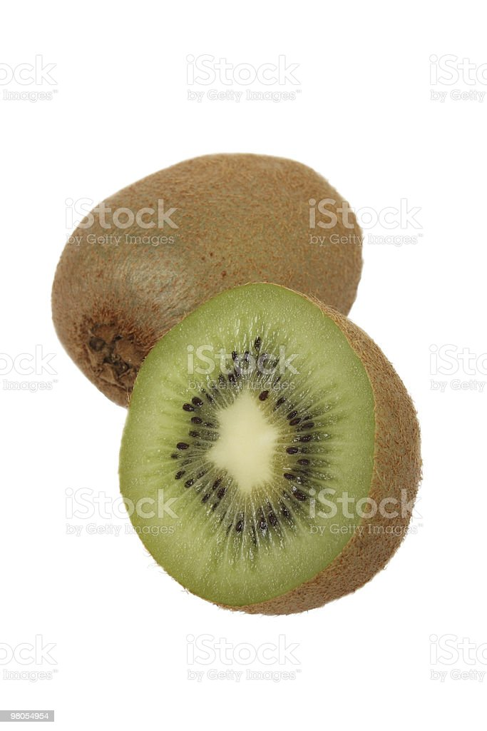 Kiwifruit and a half royalty-free stock photo