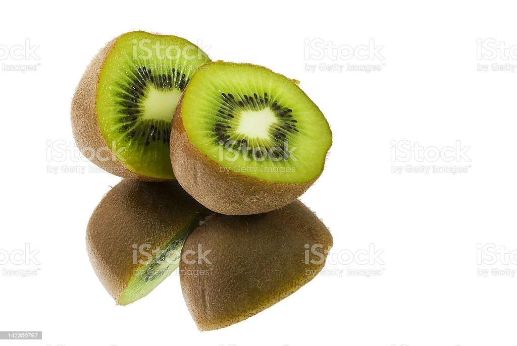Kiwifruit sliced in half royalty-free stock photo
