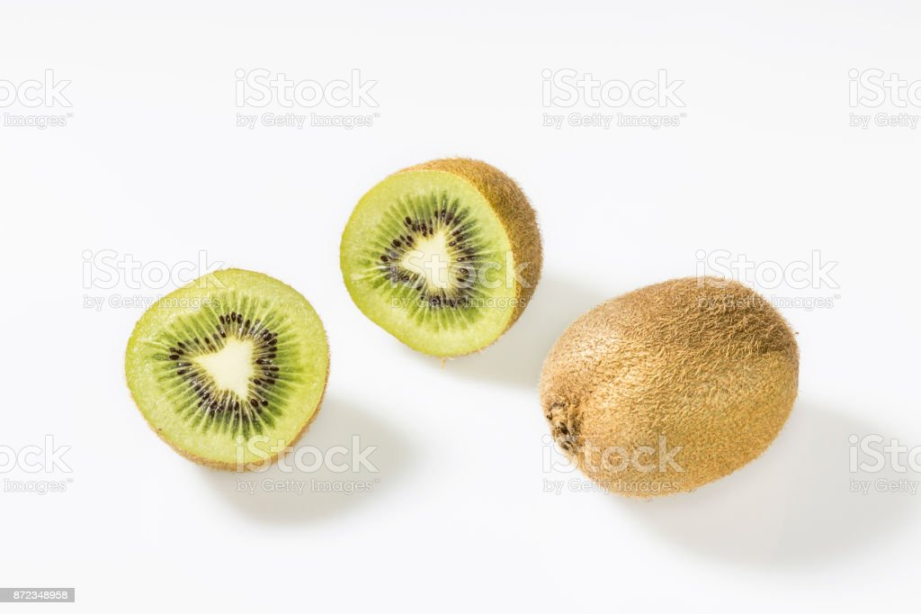Kiwis  are very vitamin-rich. stock photo