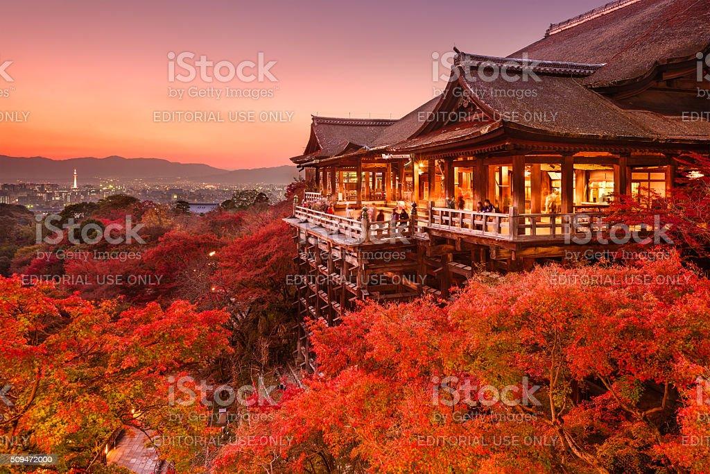 Kiyomizu Temple of Kyoto, Japan bildbanksfoto