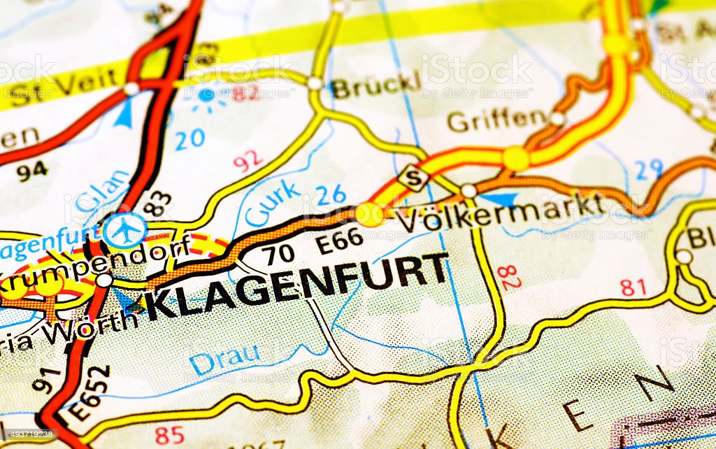 Klagenfurt Area On A Map stock photo iStock