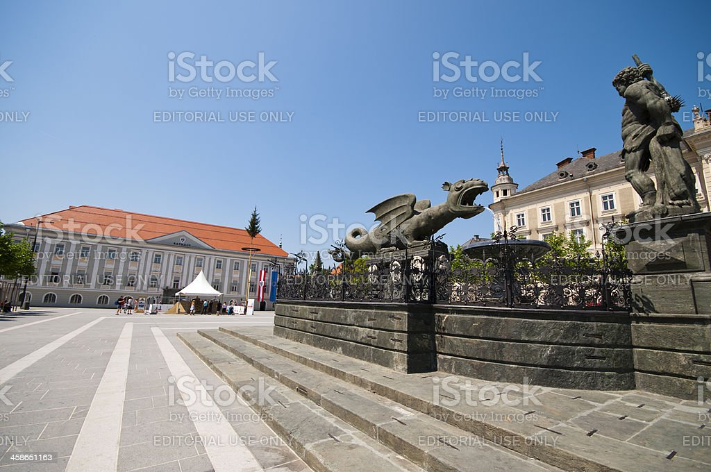 Klagenfurt City stock photo
