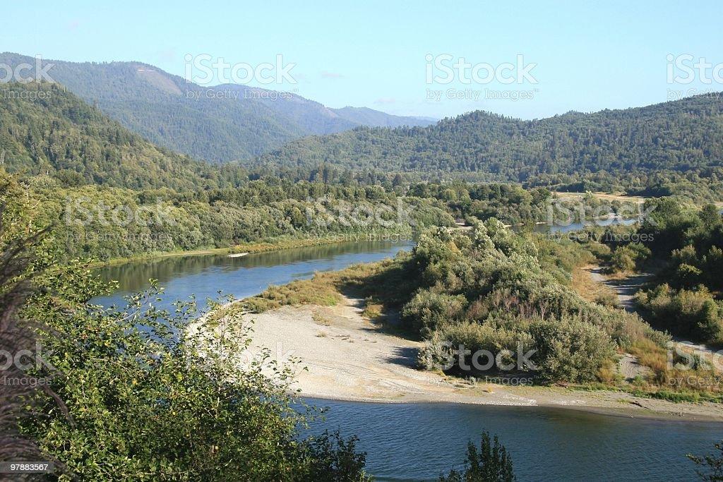 Klamath River, Northern California, Pacific Northwest, USA stock photo