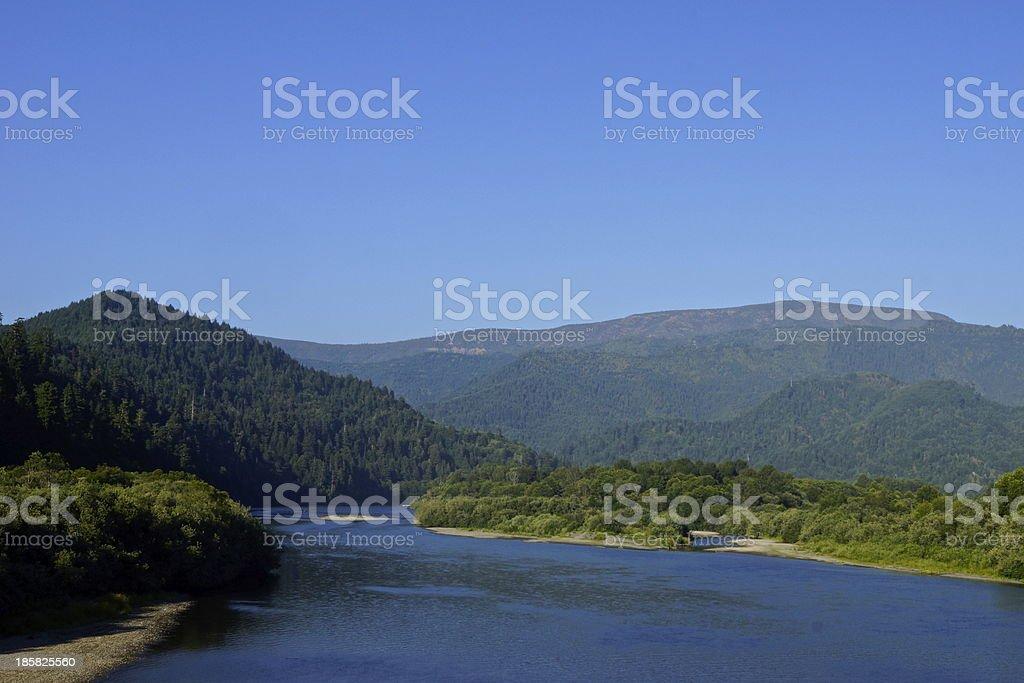 Klamath River Rare Angle stock photo