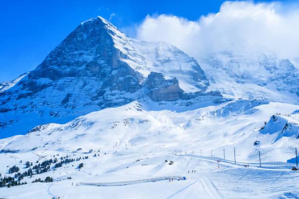Kleine Scheidegg-Station, entlang der Bahn von Interlaken zum Jungfraujoch (3.466 m). Im Tageslicht AtI Schweiz – Foto