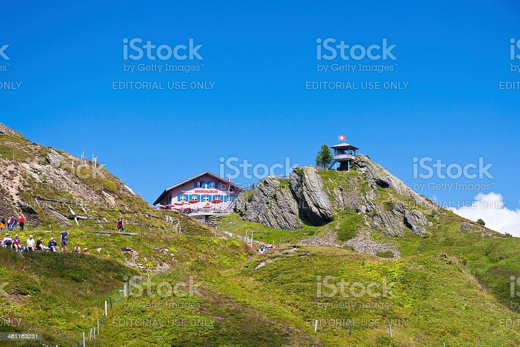 Kleine Scheidegg, Swiss Alps royalty-free stock photo