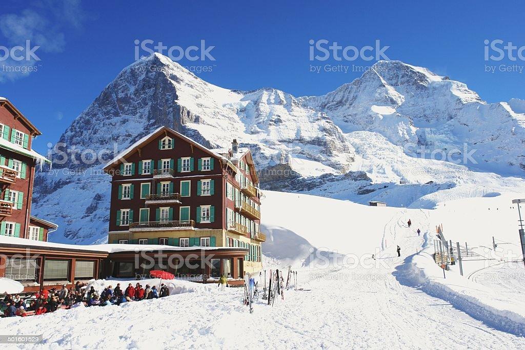 Kleine Scheidegg, Switzerland stock photo