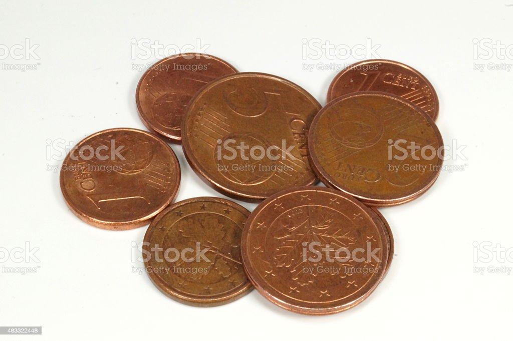 Kleingeld Münzen stock photo