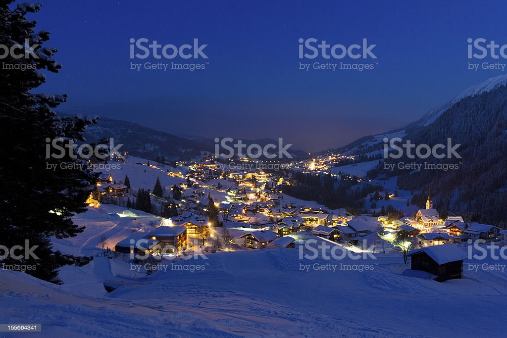 Kleinwalsertal im Schnee stock photo
