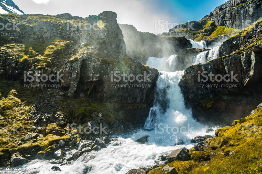 Klifbrekkufossar water stream стоковое фото