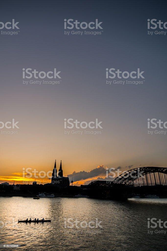 Kölner Skyline stock photo