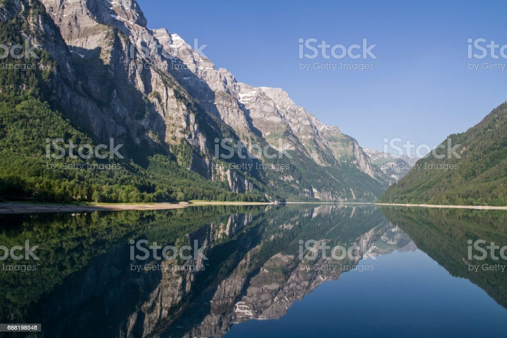 Kloental lake stock photo