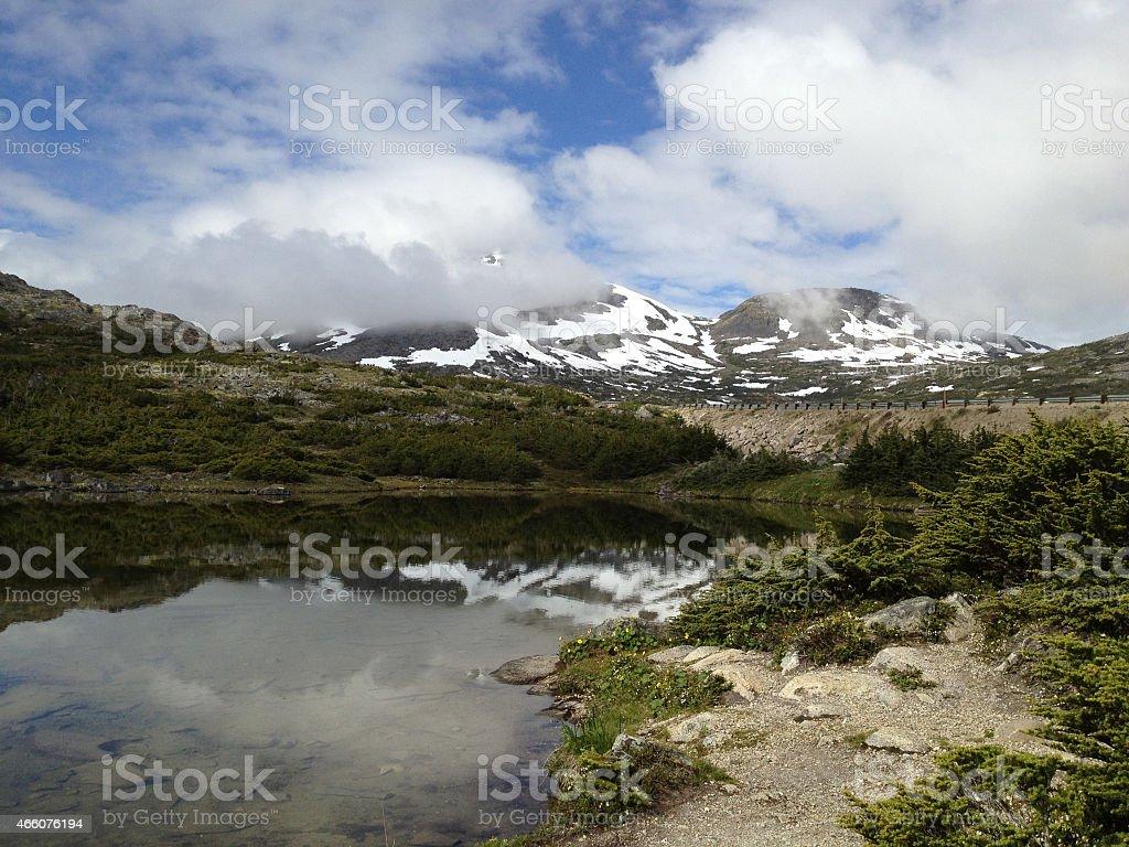 Klondike - Alaska to Canada 2 stock photo