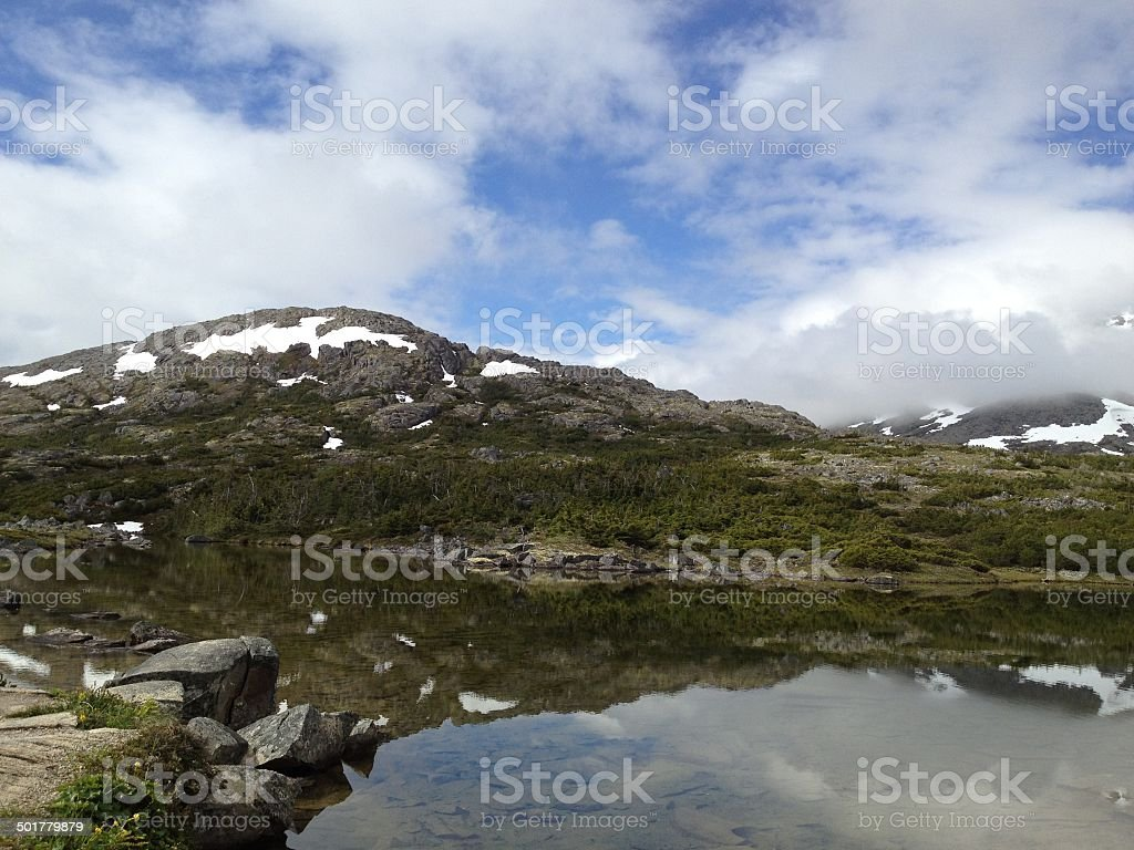 Klondike - Alaska to Canada stock photo