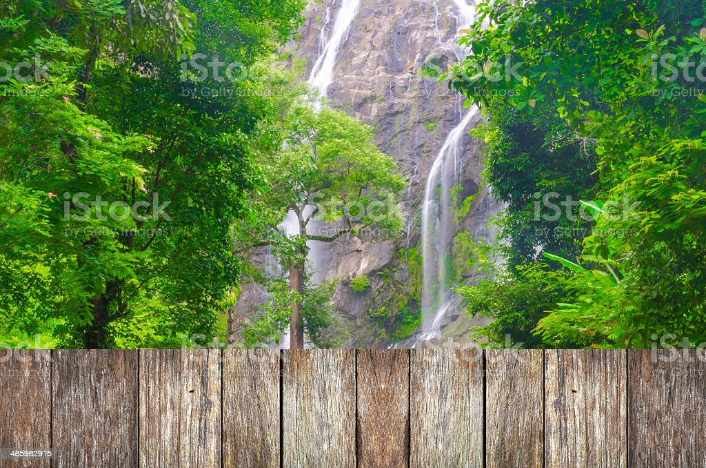 Klong Lan waterfall, National park in Northern of Thailand royalty-free stock photo