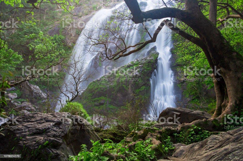 Klong Lan Waterfall National Park in Thailand stock photo
