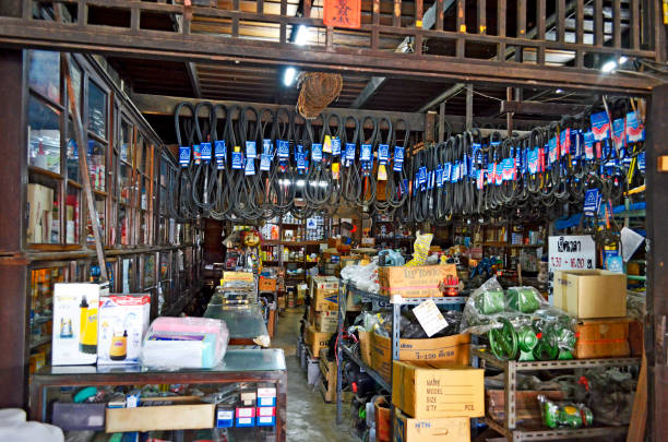 Klong Suan Centenary Market near Bangkok stock photo