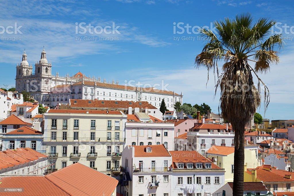 Kloster São Vicente de Fora, Lissabon stock photo