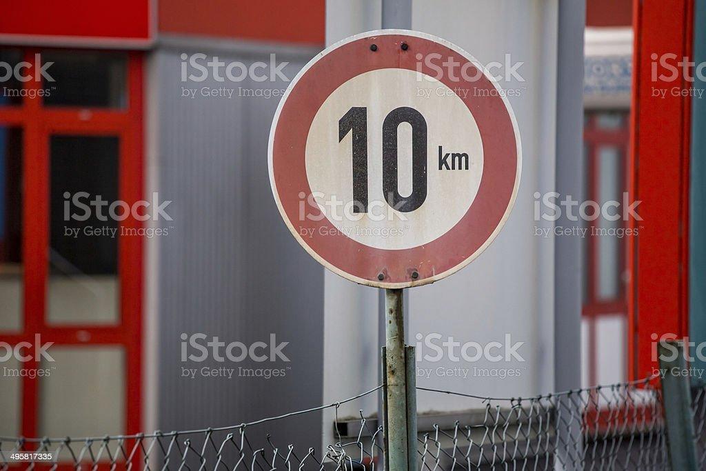 Placa de 10 km - foto de acervo