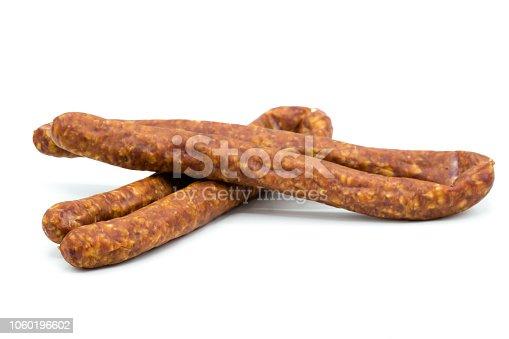 Knackwurst isolated on white background