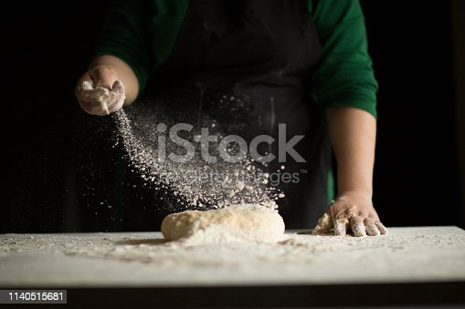 istock Kneading Loaf of Bread with Hands 1140515681