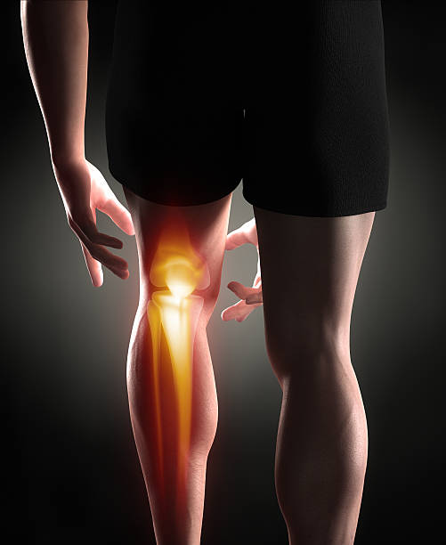 Knee antomy Man knee pain concept janulla stock pictures, royalty-free photos & images